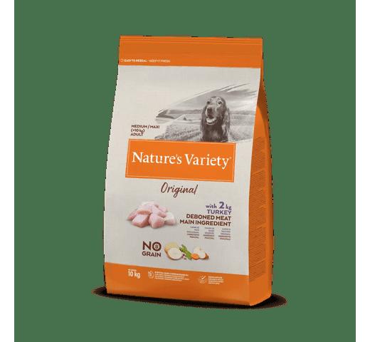 Pinso Natures Variety (True Instinct) gos original no grain medium-maxi adult gall dindi 1