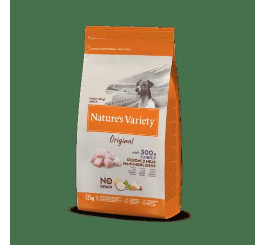 Pinso Natures Variety (True Instinct) gos original no grain mini adult gall dindi 1,5kg 1