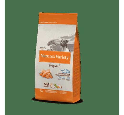 Pinso Natures Variety (True Instinct) gos original no grain mini adult salmó 7kg 1