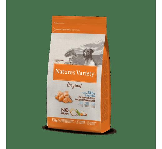 Pinso Natures Variety (True Instinct) gos original no grain mini adult salmó 1