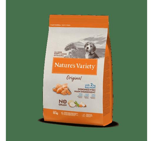 Pinso Natures Variety (True Instinct) gos original no grain junior salmó 10kg 1