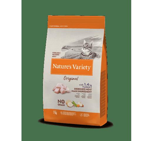 Pinso Natures Variety (True Instinct) gat original no grain esterilitzat gall dindi 7kg 1