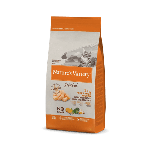 Pinso Natures Variety (True Instinct) gat selected esterilitzat pollastre 7kg 1