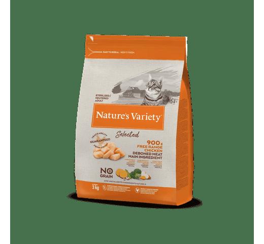 Pinso Natures Variety (True Instinct) gat selected esterilitzat pollastre 3kg 1