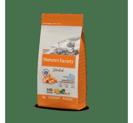 Pinso Natures Variety (True Instinct) gat selected esterilitzat salmó 7kg 1