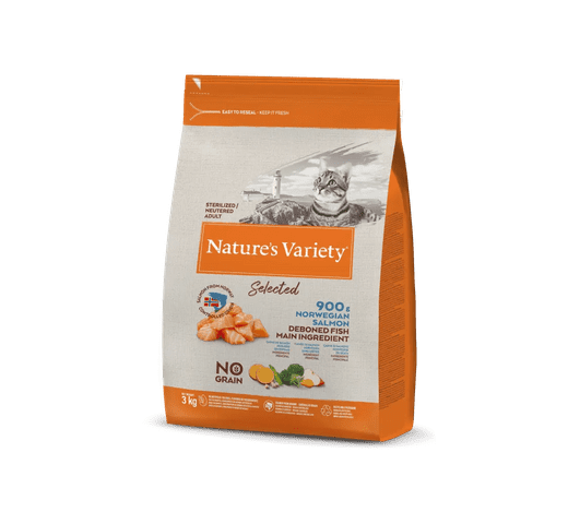 Pinso Natures Variety (True Instinct) gat selected esterilitzat salmó 3kg 1