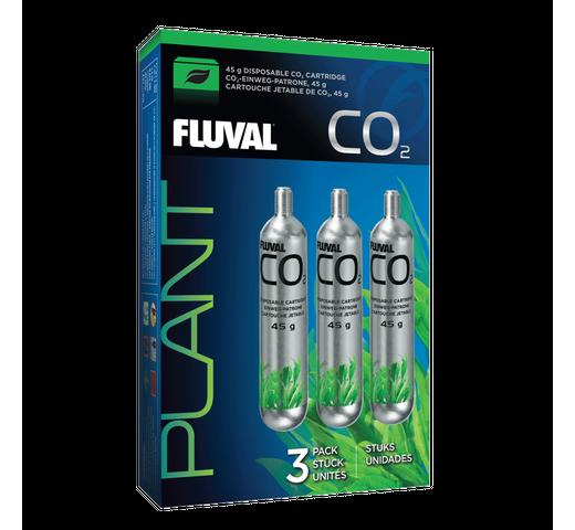 Complement aquari Fluval CO2 cartutx d'un sol ús 45gr 3un 1