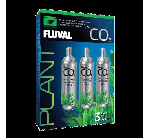 Complement aquari Fluval CO2 cartutx d'un sol ús 95gr 3un 1