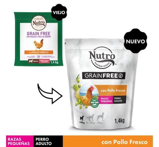 Pinso Nutro Grain free gos mini pollastre 1