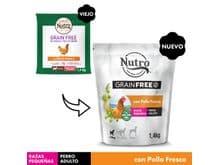 Pinso Nutro Grain free gos mini pollastre