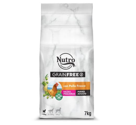 Pinso Nutro Grain free gos mini pollastre 7kg 1