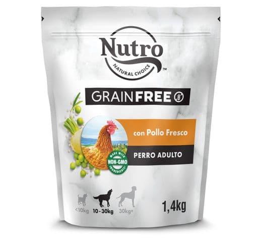 Pinso Nutro Grain free gos medium pollastre 1,4kg 1