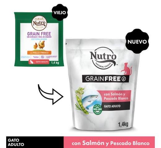 Pinso Nutro Grain free gat salmó 1