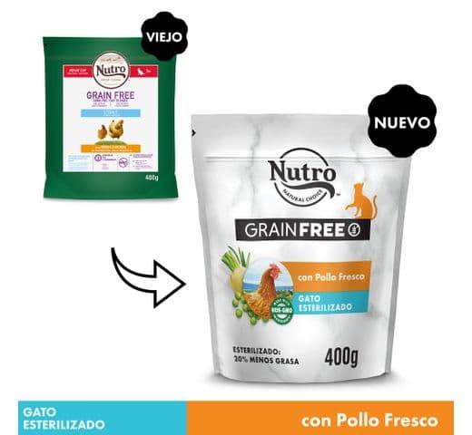 Pinso Nutro Grain free gat sterilized pollastre 1