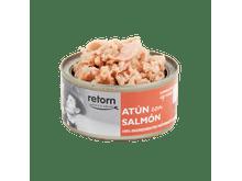 Aliment humit Retorn gat tonyina i salmó 80gr