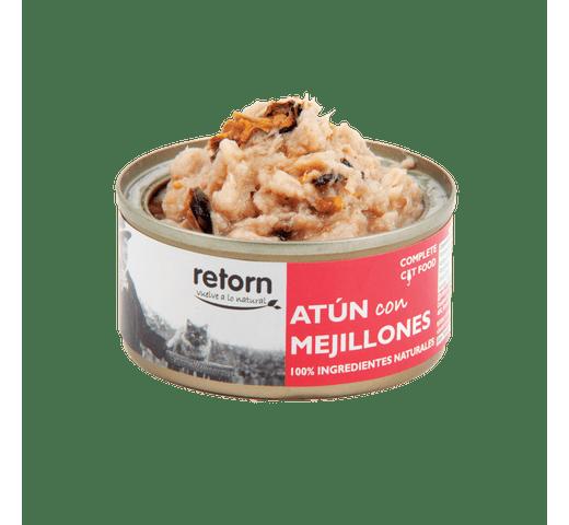Aliment humit Retorn gat tonyina i musclos 80gr 1