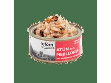 Aliment humit Retorn gat tonyina i musclos 80gr
