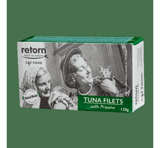 Aliment humit Retorn gat filets tonyina i gambes 120gr 1