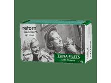 Aliment humit Retorn gat filets tonyina i gambes 120gr