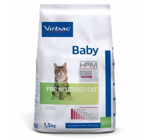 Pinso Virbac Hpm gat baby pre neutered 1,5kg 1