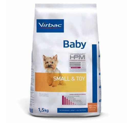 Pinso Virbac Hpm gos baby small & toy 1,5kg 1