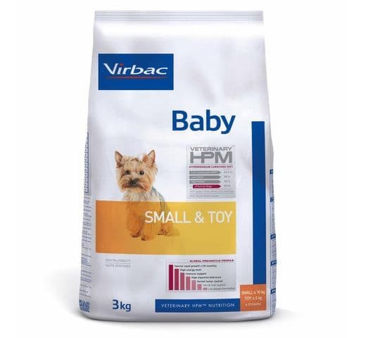 Pinso Virbac Hpm gos baby small & toy 3kg 1