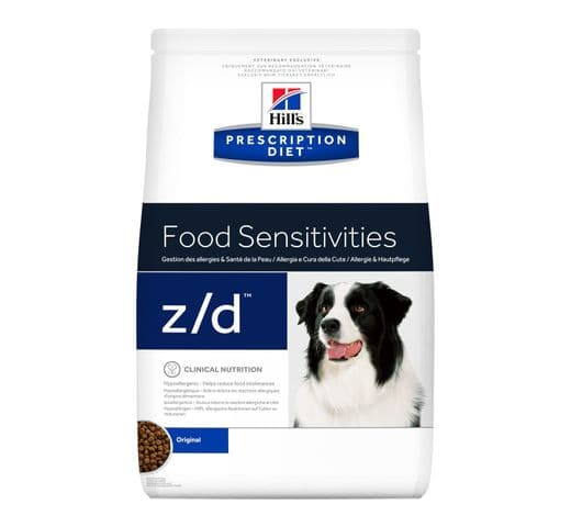 Pinso de dieta veterinària Hills gos z/d ultra allergen food sensitivities 1