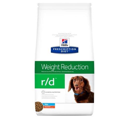 Pinso de dieta veterinària Hills gos r/d weight reduction mini 6kg 1