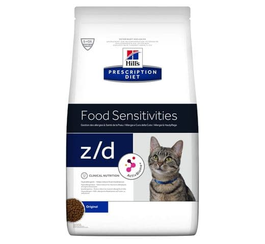 Pinso de dieta veterinària Hills gat z/d allergy & skin care 2kg 1