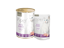 Aliment humit Piper per gats esterilitzats amb conill