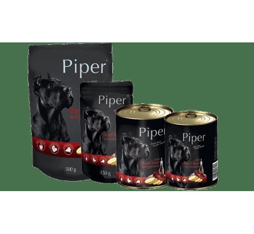 Aliment humit Piper fetge de vedella amb papates llauna 1