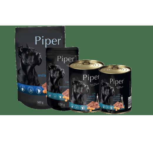 Aliment humit Piper xai, pastanaga i arròs marró llauna 1