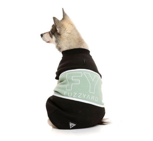 Dessuadores Fuzzyard track sweater black/sage 1