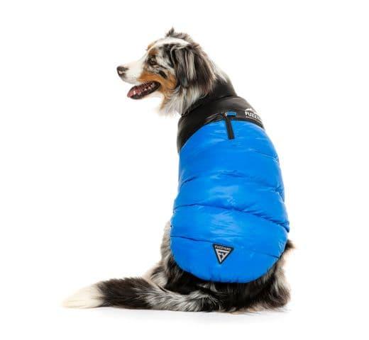 Abric Fuzzyard harlem puffer jacket blue 1