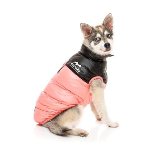 Abric Fuzzyard harlem puffer jacket pink 1