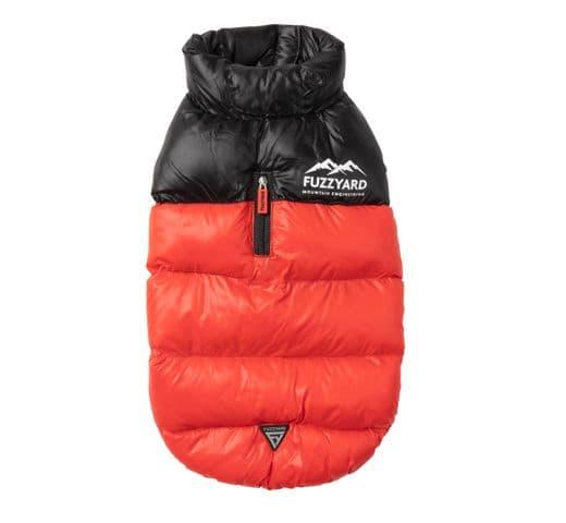 Abric Fuzzyard harlem puffer jacket red 2