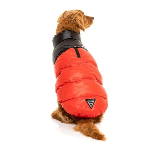 Abric Fuzzyard harlem puffer jacket red 1