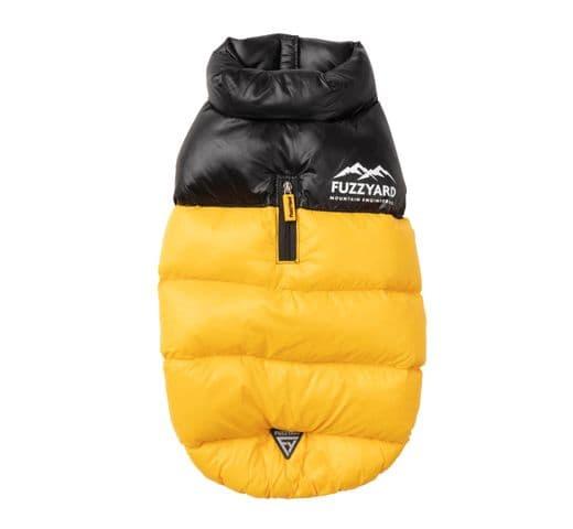 Abric Fuzzyard harlem puffer jacket yellow 2