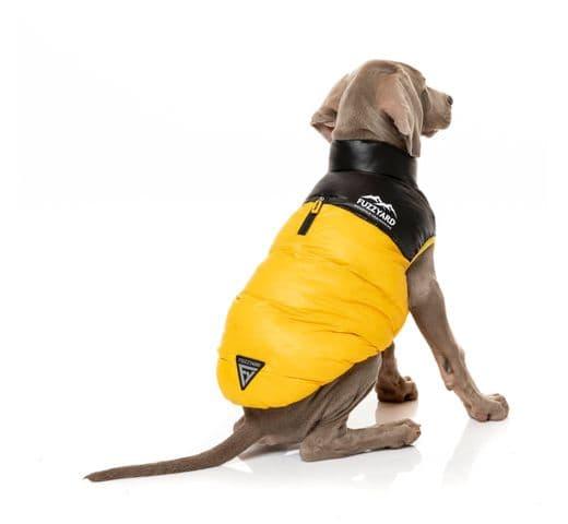 Abric Fuzzyard harlem puffer jacket yellow 1