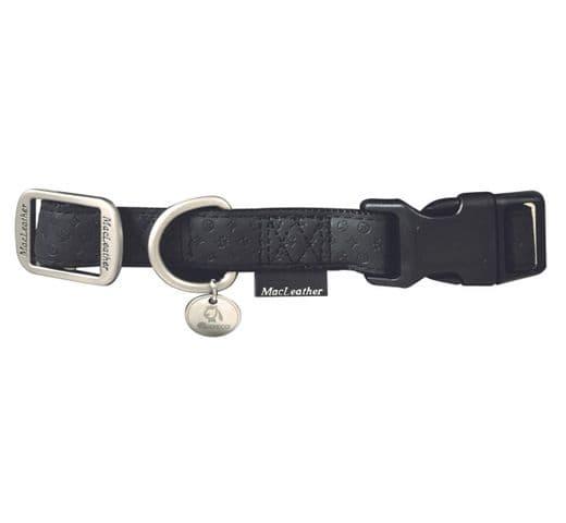 Collar Mac Leather negre 10mmx20-30cm 1