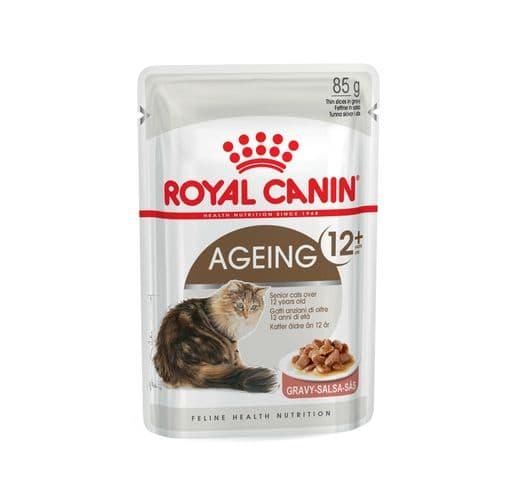 Aliment humit Royal Canin gat ageing +12 salsa sobre 85gr 1