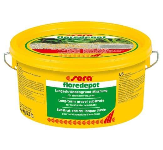 Control de l'aigua Sera Floredepot 2,4kg adob 1