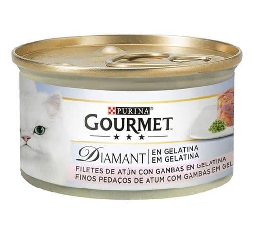Aliment humit Gourmet Purina gat diamant tonyina gelatina 1