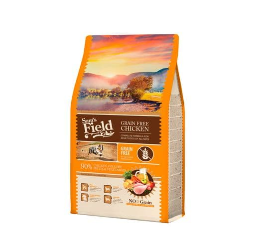Pinso Sams Field gos adult grain free pollastre 2,5kg 1