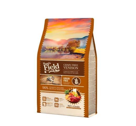 Pinso Sams Field gos adult grain free cérvol 2,5kg 1