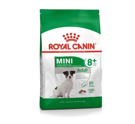 Pinso Royal Canin gos mini adult +8 2kg 1