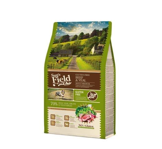 Pinso Sams Field gos adult gluten free vedella 13kg 1
