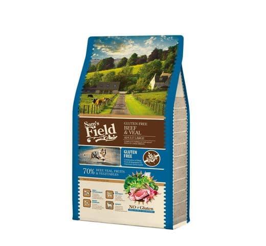 Pinso Sams Field gos gran adult gluten free vedella 13kg 1
