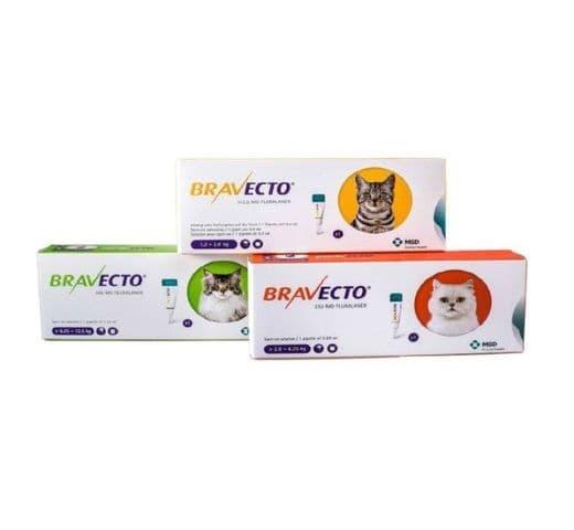 Antiparasitari Extern MSD Bravecto gato S (<2,8 kg)1 pipeta 1