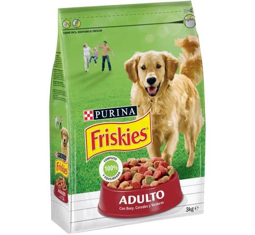 Pinso Friskies Purina gos adult carn/verdura 1